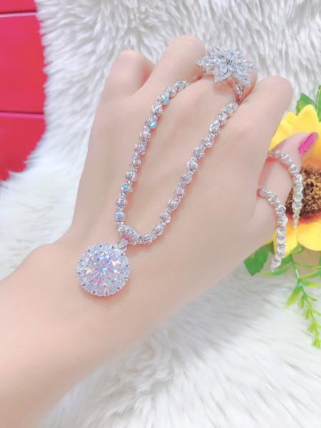 [Hàng Mới Về - Miễn Phí Ship] Dây chuyền nữ mạ bạc bạch kim 18K kiểu dáng tinh xảo cao cấp giá rẻ  U.daychuyen269