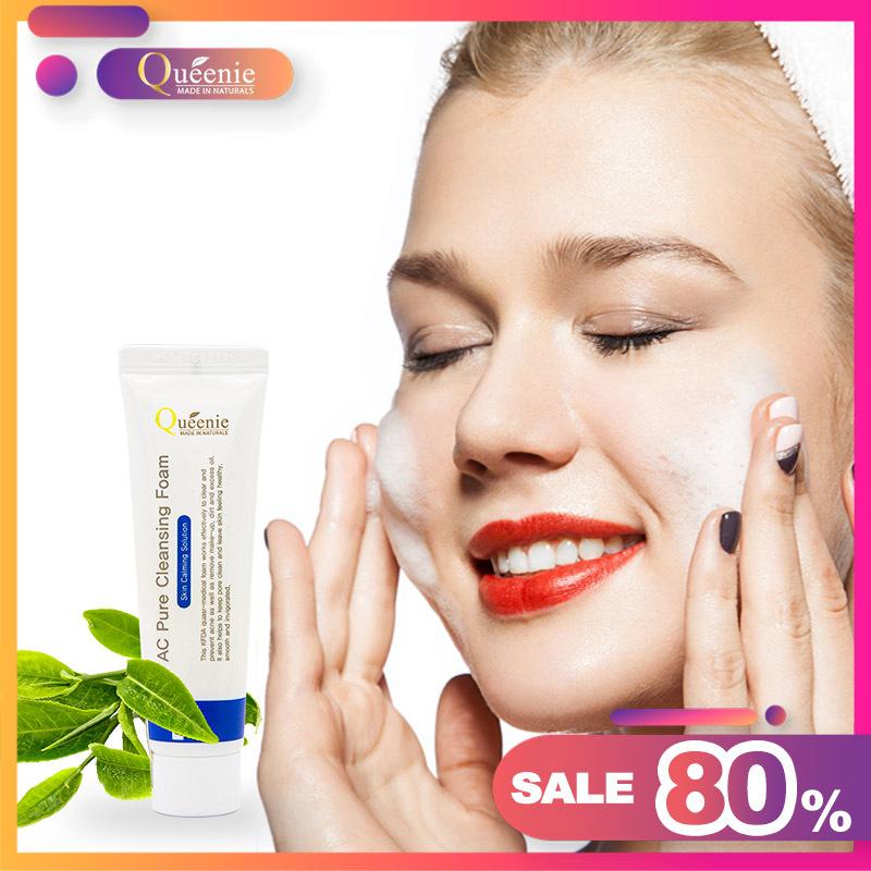 Sữa rửa mặt tạo bọt Queenie AC Pure, trải nghiệm 20ml - Mp Hàn Quốc với lớp bọt Nano siêu mịn sẽ rửa sạch sâu bụi bẩn, tạp chất trên da