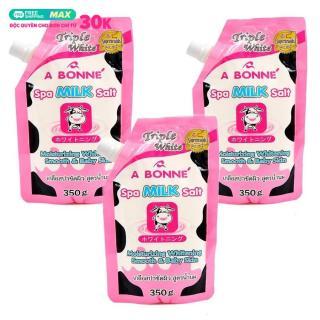 Combo 3 Bịch Muối tắm sữa bò tẩy tế bào chết A Bonne Spa Milk Salt Thái Lan 350gr thumbnail
