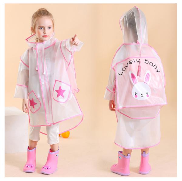 Giá bán Áo mưa trong suốt cho bé, túi bọc balo và thân thiện với môi trường
