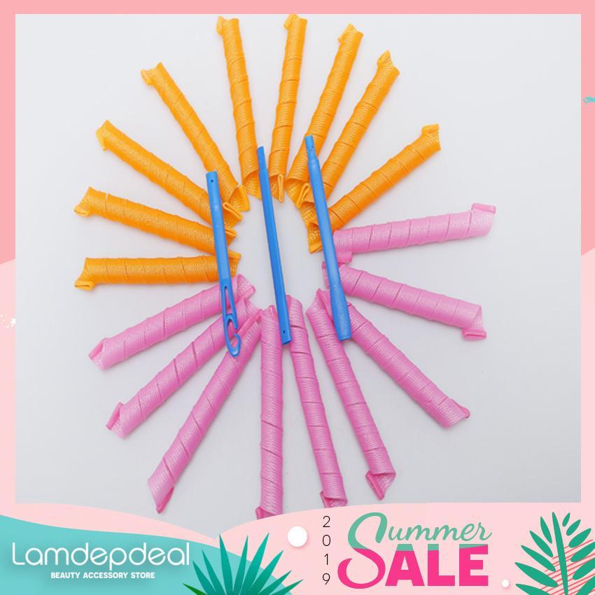 Lamdepdeal - Bộ tạo kiểu tóc xoăn 18 ống Curlformer dài 20cm - Dụng cụ làm tóc. cao cấp