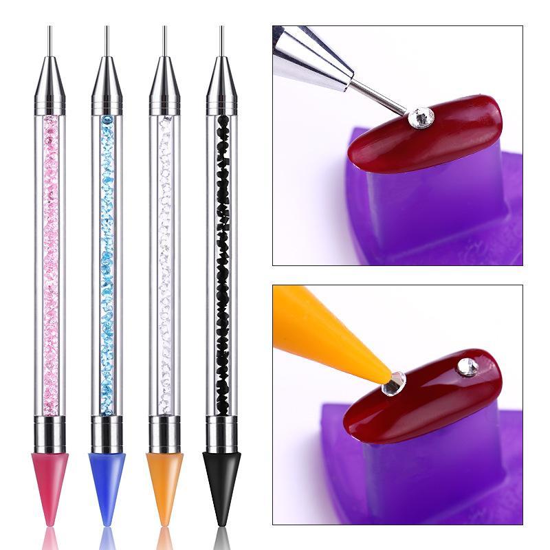 Bút đính đá trang trí móng tay (2 đầu), dụng cụ trang trí móng nail chuyên nghiệp