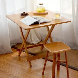 Bàn Trà, Bàn Ăn, Bàn Ban Công Gấp Gọn Gỗ Tre Square-Table thumbnail