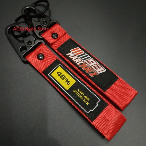 Móc chìa khóa vải 16x2.5 Harley Ducati KTM Akrapovic và nhiều mẫu khác