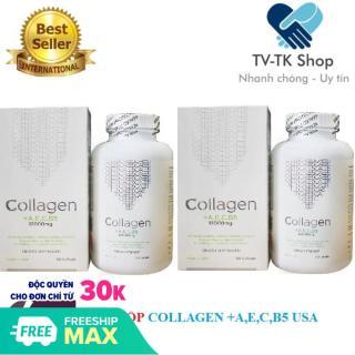 Bộ 2 Hộp Viên Uống Dưỡng Da Collagen +AEC B5 12000MG USA (Hộp 180 Viên) thumbnail