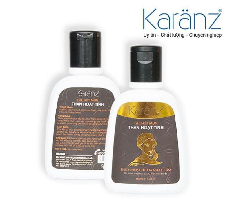 Gel lột mụn Than hoạt tính Karanz 185ml nhập khẩu