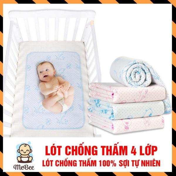 Tấm lót chống thấm 4 lớp êm ái cho em bé 50x70cm(Hàng loại một)