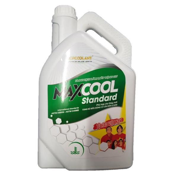 Nước làm mát xe ô tô, xe máy, tàu thuyền (màu xanh) Maxcool Standard can 4L