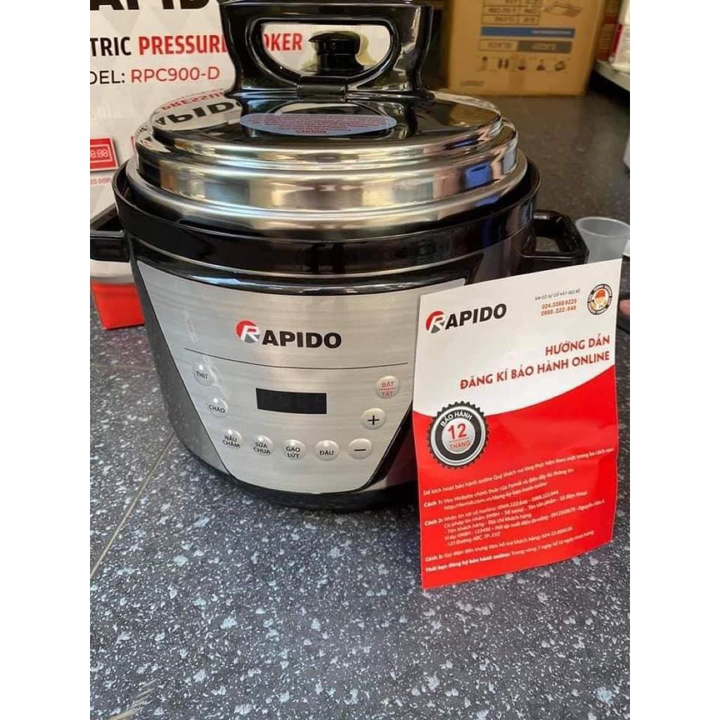 ⭐bán nồi áp suấthấp bằng nồi áp suấtNồi áp suất điện đa năng Rapido  RPC900-D hầm xương mấu cháo siêu nhanh tiết kiệm điện năng Hàng chính hãng  rapido bảo hành 12