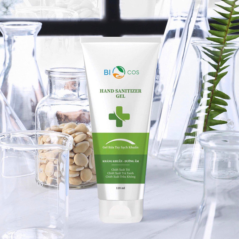 Gel Rửa Tay Sát Khuẩn Biocos 120ml, Gel cao cấp có dưỡng ẩm da tay, làm mềm da tay cao cấp