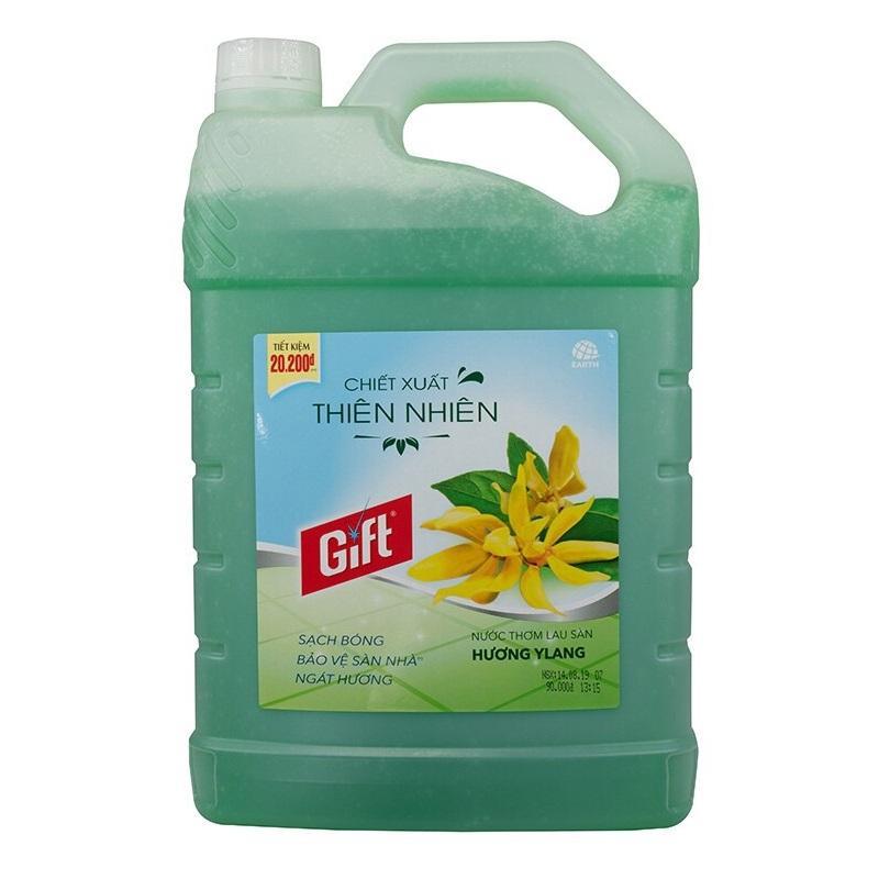 Nước lau sàn Gift hương Ylang 3.8kg - Mẫu mới