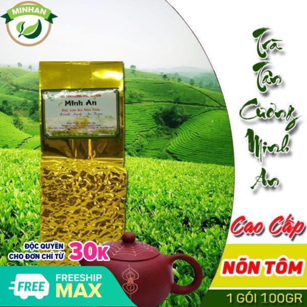 100g chè Tân Cương nõn tôm loại 1 trà thái nguyên nước xanh sạch thơm cốm hậu ngọt - xưởng Minh An