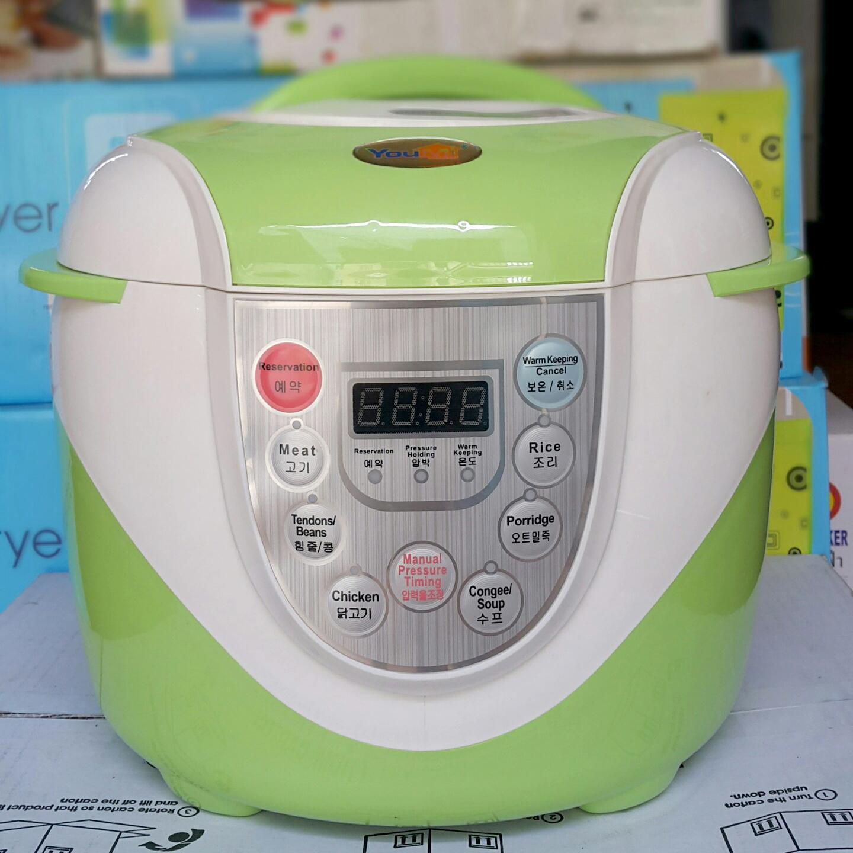 Nồi áp suất điện tử đa năng Hàn Quốc Youmi 5L nấu cơm, hầm cháo, hầm xương