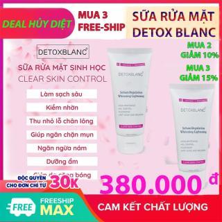 Sữa rửa mặt Detox BlanC Làm sạch da sinh học, sủi bọt, thải độc tố đa năng Clear Skin Control B orial Korea thumbnail