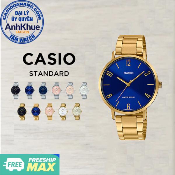 Đồng hồ nữ dây kim loại Casio Standard chính hãng Anh Khuê LTP-VT01 Series (34mm)