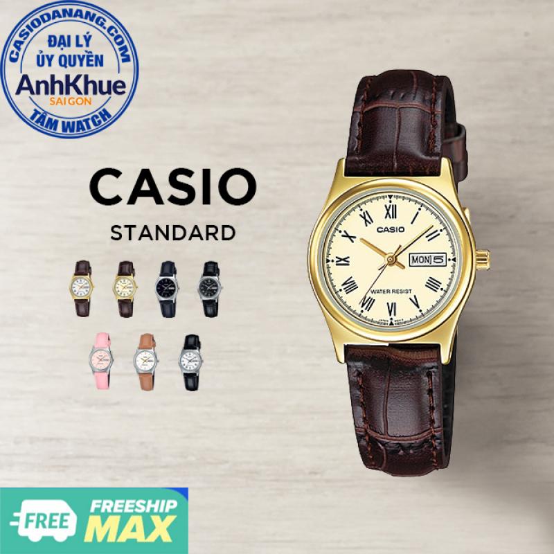 Đồng hồ nữ dây da Casio Standard chính hãng Anh Khuê LTP-V006 Series (25mm)
