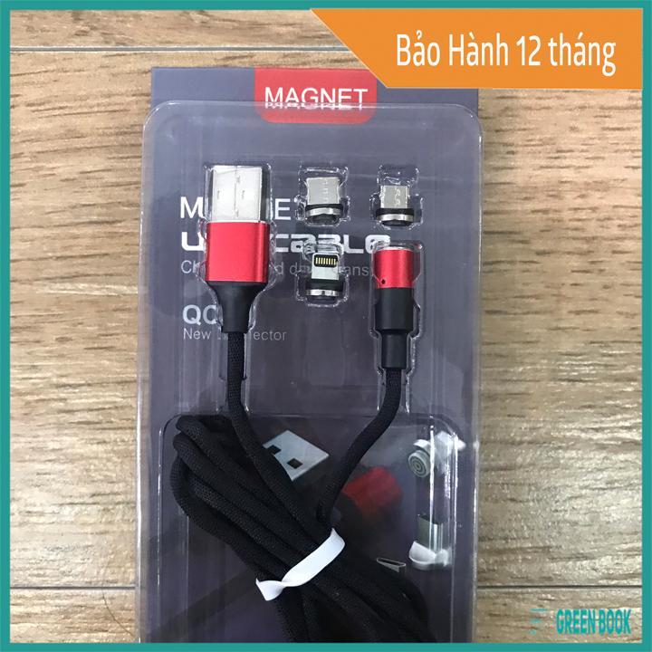 Giá Dây Cáp Sạc Nam Châm Có Sẵn 3 Đầu Lightning , Micro USB , Type C | Bảo Hành 12 tháng | Sản Phẩm Chất Lượng Cao