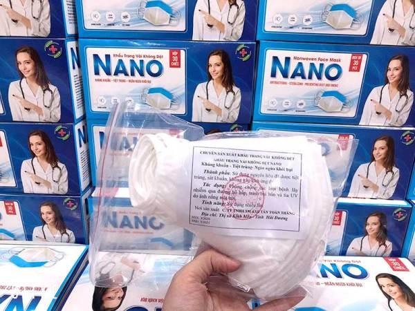 Giá bán 1 Hộp Khẩu Trang Vải Kháng Khuẩn Nano - Ngăn Bụi - Kháng Khuẩn - Vải Mềm Mịn - Không Gây Kích Ứng Da