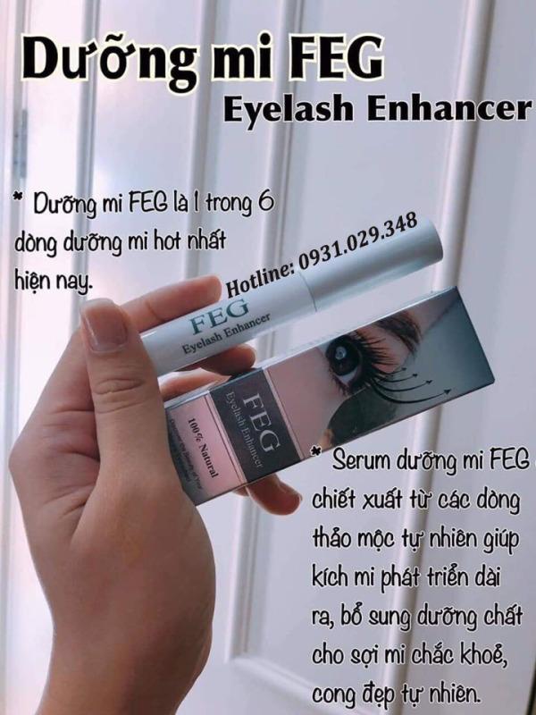 Serum Dưỡng Mi FEG Eyelash Enhancer Mỹ giúp Mi Dài, Dày, Cong Tự Nhiên nhập khẩu