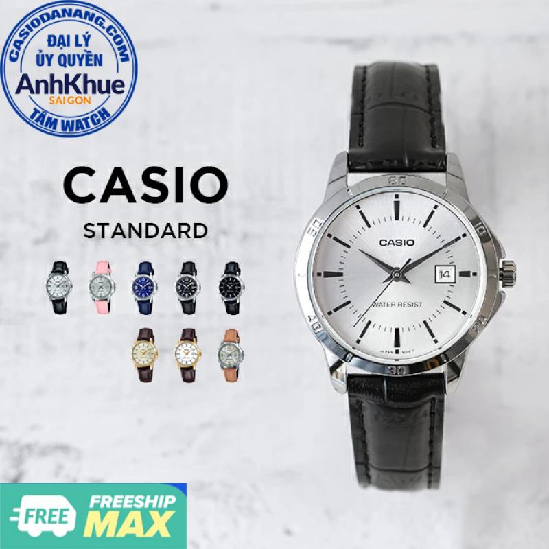 Đồng hồ nữ dây da Casio Standard chính hãng Anh Khuê LTP-V004 Series