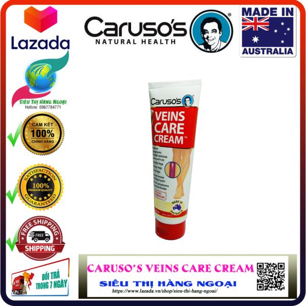 Kem bôi suy giãn tĩnh mạch Carusos Veins Care Cream 75g [Giảm đau nhức cơ, chuột rút, giảm vết bầm tím, gân xanh] - Hàng ÚC (được bán bởi Siêu Thị Hàng Ngoại)