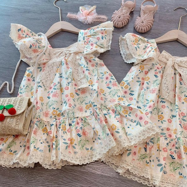 Giá bán [Hàng mới về]  Váy cánh tiên nơ ren cho bé - VBG-NơRen