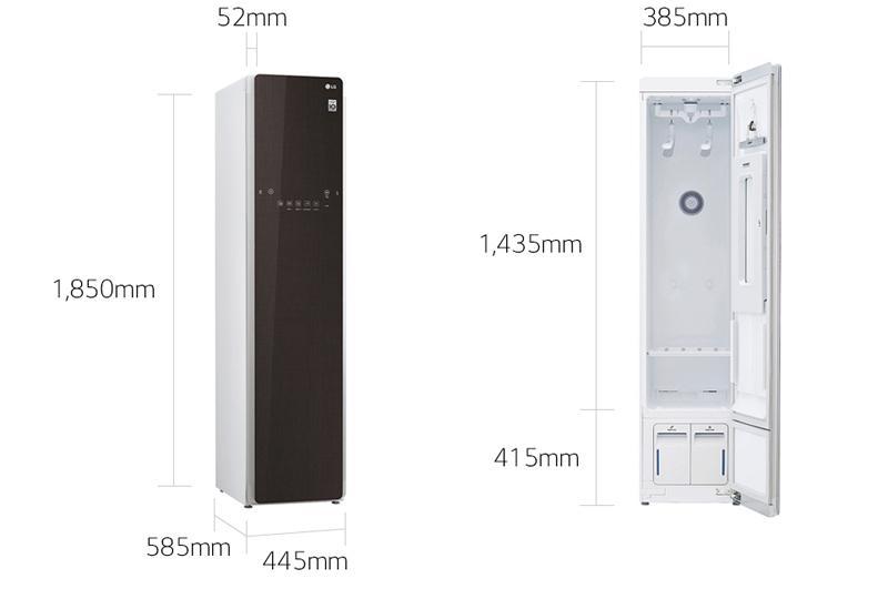 Tủ làm sạch quần áo bằng hơi nước LG Styler (màu nâu) .