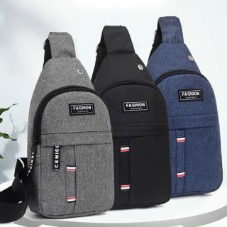 Túi đeo chéo nam và nữ vải canvas Fashion có 3 ngăn đựng ( kẻ dù ) thumbnail