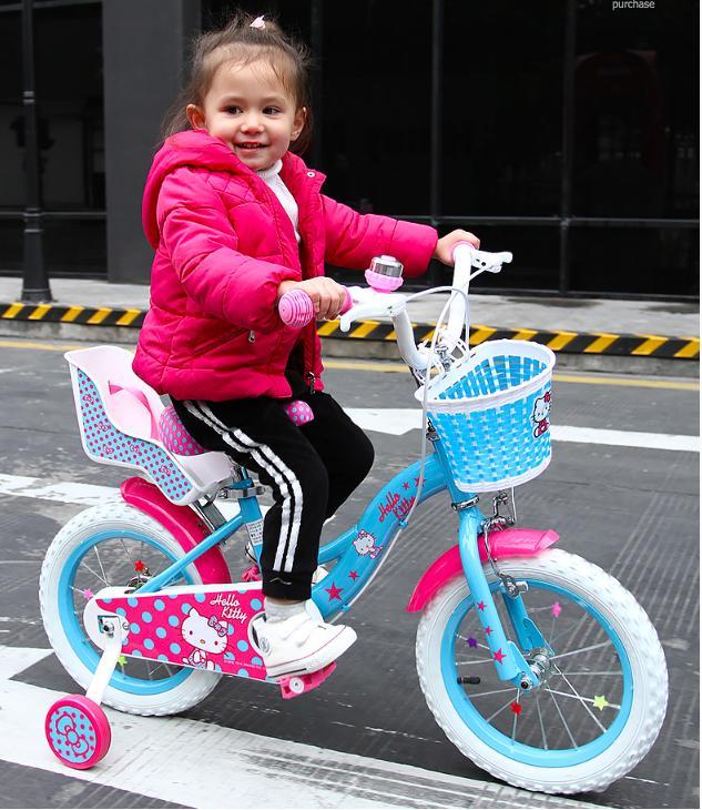 Mua Xe đạp cao cấp cho bé gái 4-7 tuổi - Size 14/16 inch