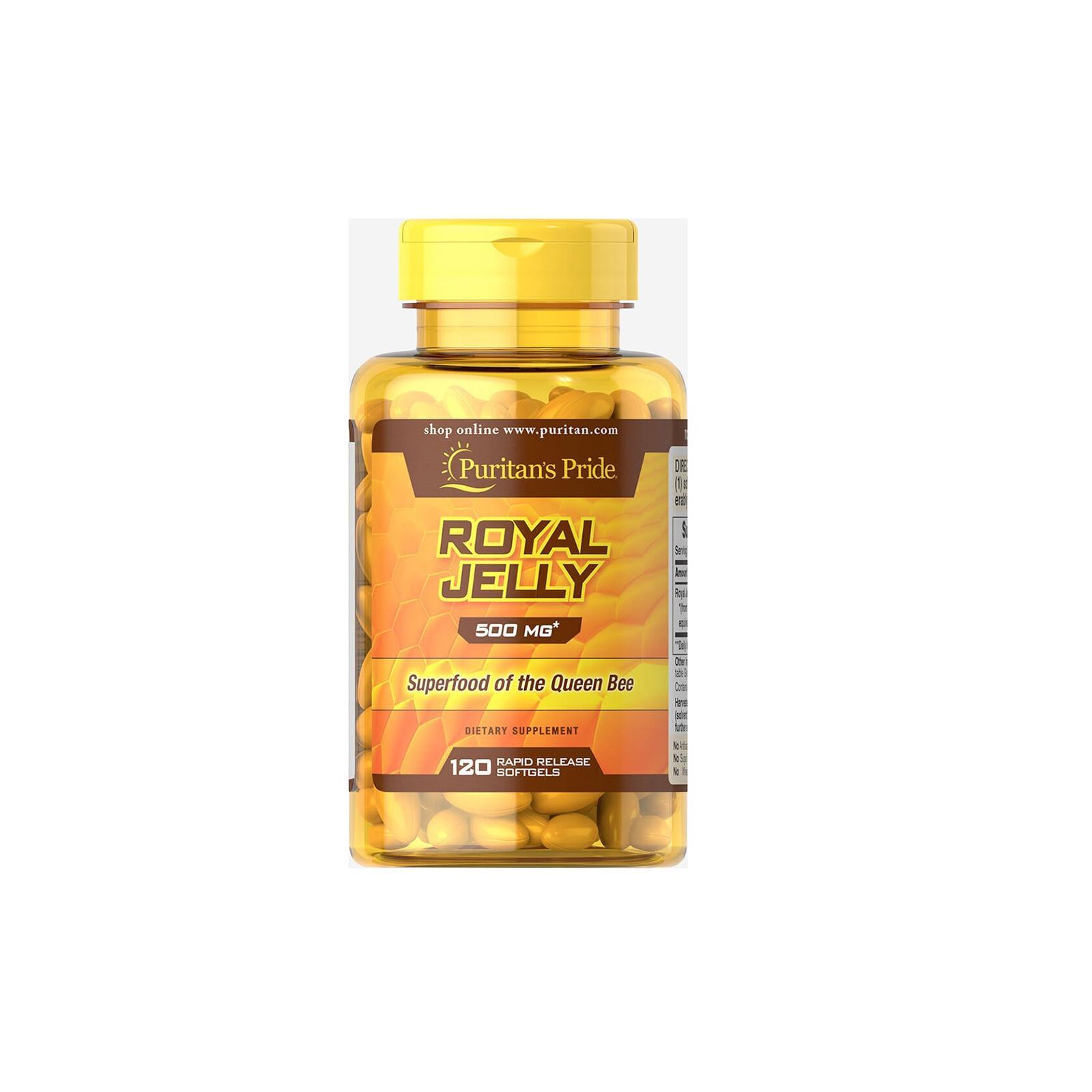 Sữa ong chúa của Mỹ Royal Jelly Puritans Pride giúp đẹp da ,giảm cân giảm căng thẳng mệt mỏi uể oải 500mg 10 viên dùng thử nhập khẩu