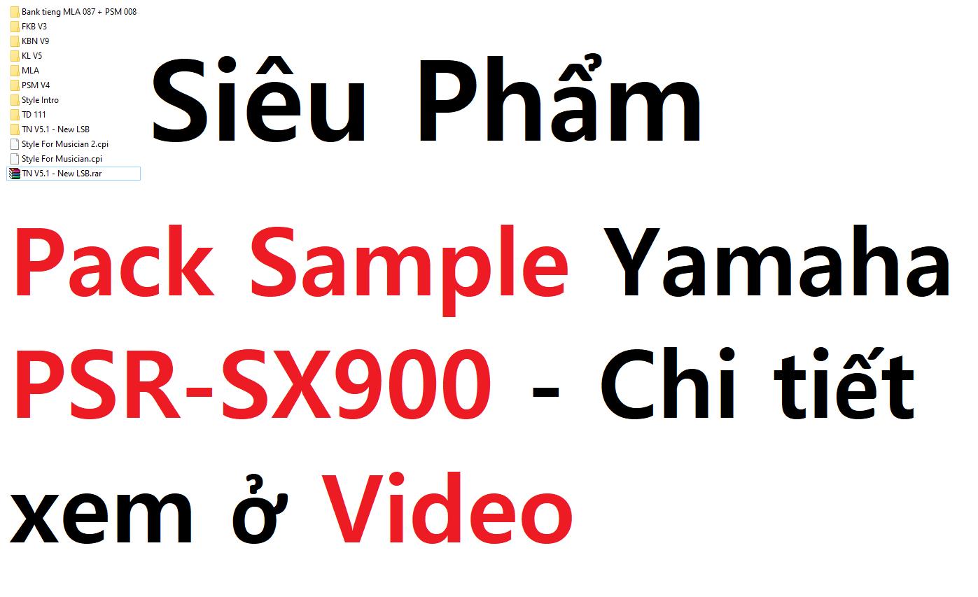 Siêu Phẩm Pack Sample Yamaha PSR SX900