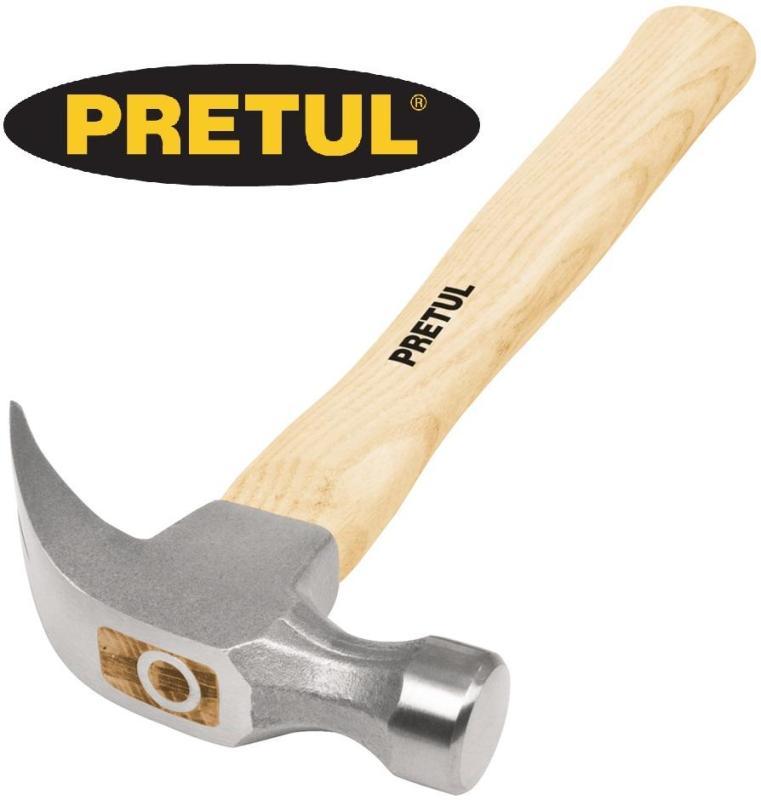 Búa nhổ đinh cán gỗ 450g 16oz cán gỗ Truper PRETUL MP-16 Made in Mexico