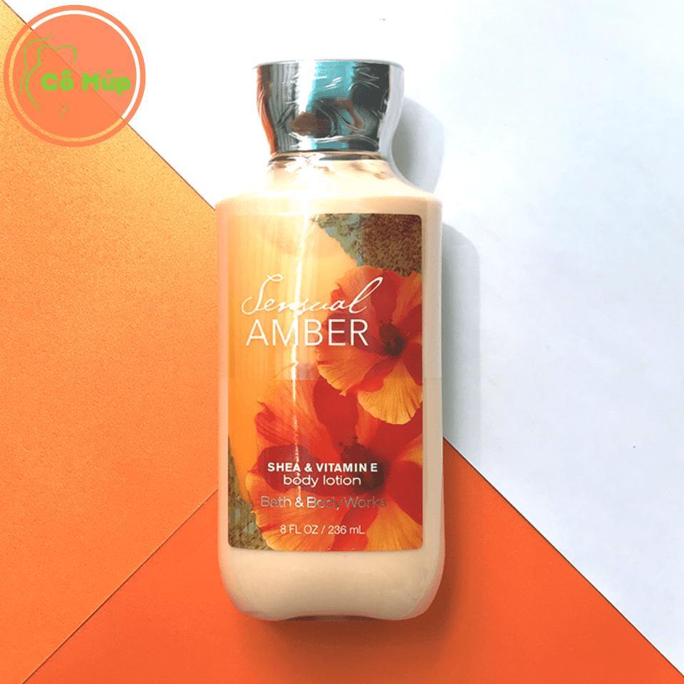 Sữa Dưỡng Thể Bath and Body Works Sensual Amber 236ml - Hàng USA