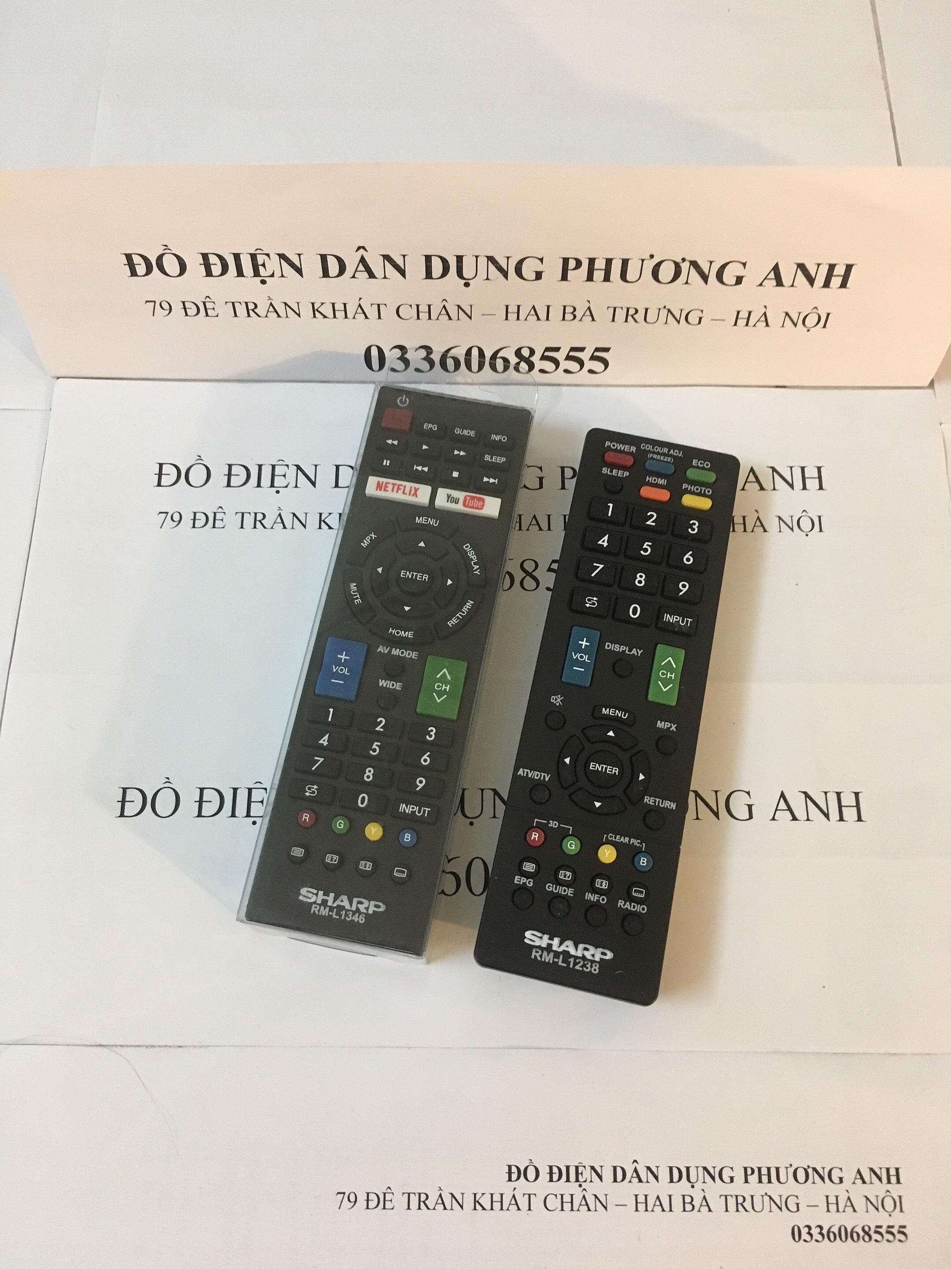 Bảng giá ĐIỀU KHIỂN TIVI SHARP SMART TV + TV THƯỜNG