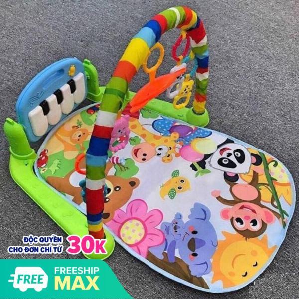 Đồ chơi cho bé Thảm nhạc piano cao cấp  cho bé nằm chơi có nhạc và đồ chơi lục lac