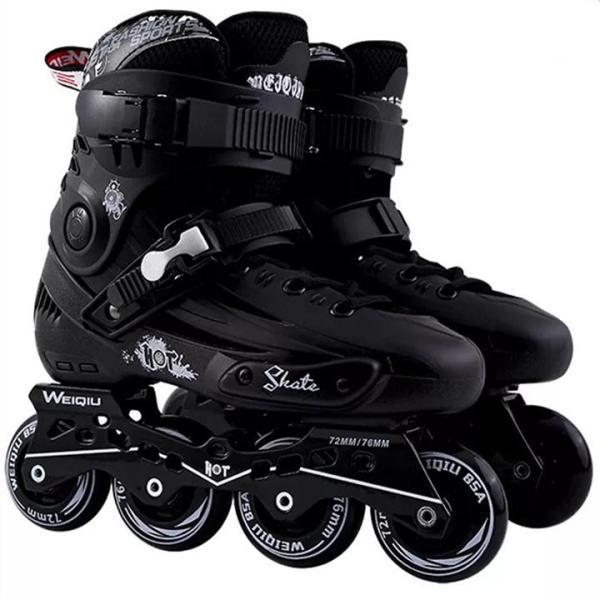 Phân phối Giày patin người lớn Weiqui Skate màu đen size từ 39-44 dáng thể thao họa tiết tinh tế [TOMTIN SPORT]