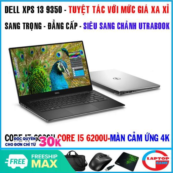 Bảng giá laptop Dell xps 13 9350 Siêu mỏng VIP Core i7 6500U, Core i5 6200u, ram 8g, ssd 256g, màn 13,3 fhd ips tràn viền, dòng laptop cao cấp Phong Vũ