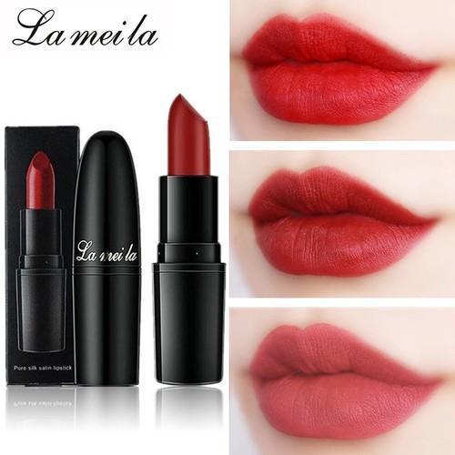Son lì LaMeiLa siêu nhẹ môi màu sắc quyến rũ son trang điểm son thỏi son môi GM-SLMLDEN