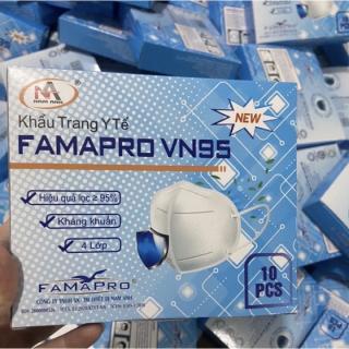 Hộp 10 cái Khẩu trang y tế 4 lớp VN95, N95, KN95 Famapro Nam Anh Hàng xuất khẩu thumbnail