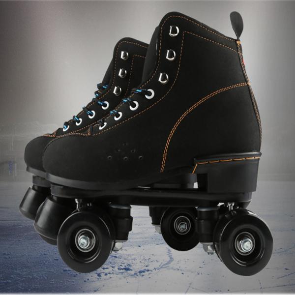 Phân phối Giày trượt patin người lớn 4 bánh 2 hàng có size từ 37-44, bốt Nỉ màu đen phù hợp cả nam và nữ, đi được ngay không sợ ngã [TOMTIN SPORT]