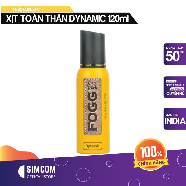 Xịt toàn thân FOGG Dynamic 120ml (không gas tiết kiệm lên tới 1000 lần xịt)