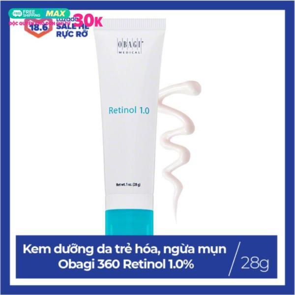 [HÀNG NHẬP KHẨU] Kem dưỡng da trẻ hóa, ngừa mụn, chống lão hóa Obagi 360 Retinol 1.0% 28g