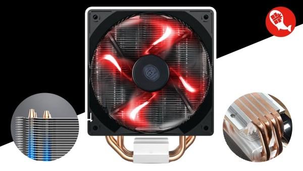 [Nhập ELMAR31 giảm 10% tối đa 200k đơn từ 99k]Quạt tản nhiệt CPU CoolerMaster T400i-hiệu năng cao sản phẩm tốt có độ bền cao cam kết sản phẩm nhận được như hình