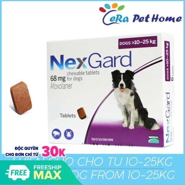 Viên trị ve ghẻ, bọ chét trên chó - 1 viên Nexgard cho chó 10-25kg (1 tablets 10-25kg)