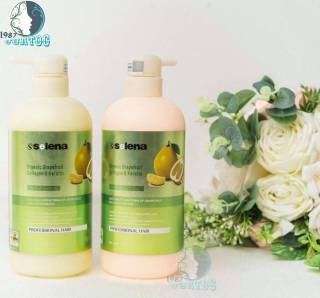 Gội Xả Bưởi Tăng Phồng Kích Thích Mọc Tóc Tr ị Rụng tóc Selena Organic Grapefruit Collagen và Keratin 800ML X 2 thumbnail