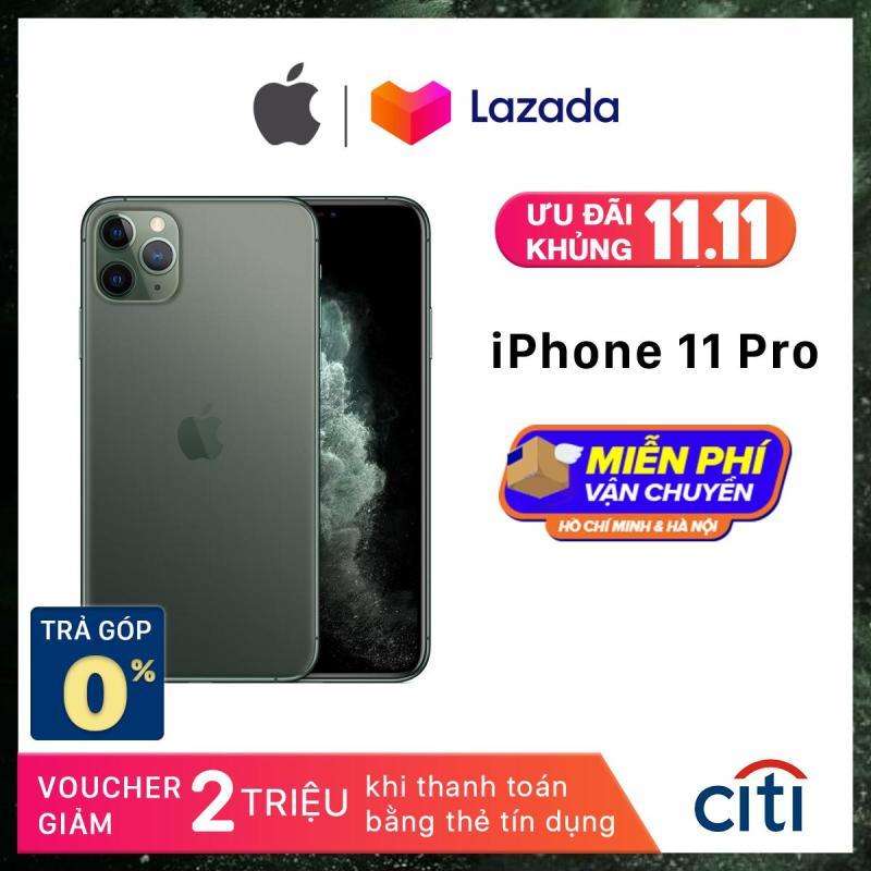 Điện thoại Apple iPhone 11 Pro - Phân Phối Chính Hãng VN/A - Màn Hình Super Retina XDR 5.8inch, Face ID, Chống nước, Chip A13, 3 Camera, Đi Kèm Sạc Nhanh 18W