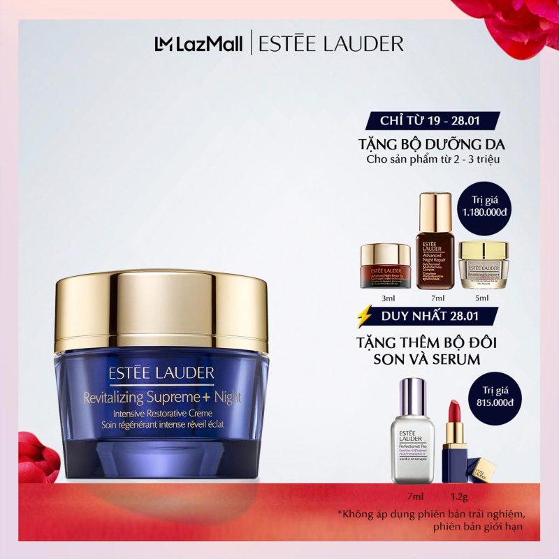 Kem dưỡng ban đêm chống lão hóa và tái tạo chuyên sâu Estee Lauder Revitalizing Supreme+ Night Intensive Restorative Crème nhập khẩu