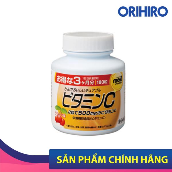 Viên nhai bổ sung Vitamin C Orihiro Most Chewable 180 viên