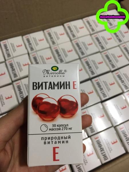 Vitamin E đỏ nga MIRROLLA 270mg lọ 30 viên