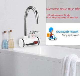 Mua Bình Tắm Nóng Lạnh, Bình Nóng Lạnh Mini, Máy làm nóng nước trực tiếp tại vòi - kiểu dáng sang trọng, an toàn tiết kiệm. BH UY TÍN tại SHOP NOW thumbnail